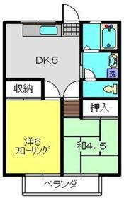 クリスタルパレス2階Fの間取り画像