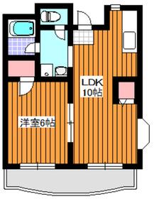 地下鉄成増駅 徒歩6分3階Fの間取り画像
