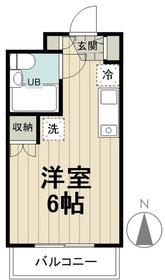 美山コーポ向ヶ丘2階Fの間取り画像