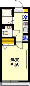 クレスト壱番館1階Fの間取り画像