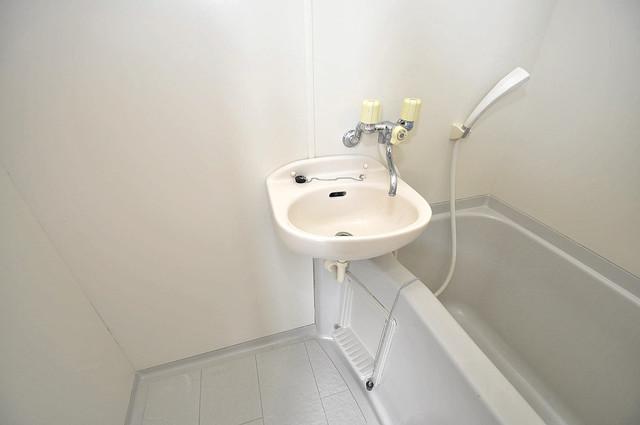 大宝小阪ヴィラデステ 忙しい朝にあなたを手助けしてくれる素敵な洗面台。
