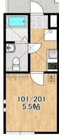 アザーレソラ宮前平1階Fの間取り画像