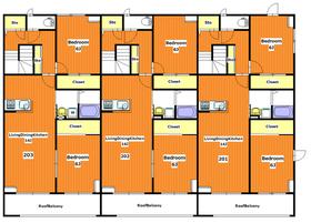 ベラ フォレスト2階Fの間取り画像