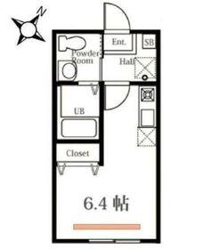ハーミットクラブハウス東白楽Ⅱ(仮称)2階Fの間取り画像