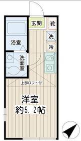 Hilltop横浜2階Fの間取り画像