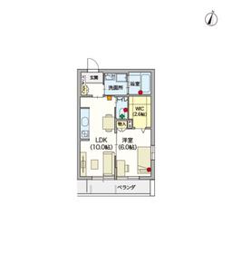 (シニア限定)Hebel Maison Courage3階Fの間取り画像