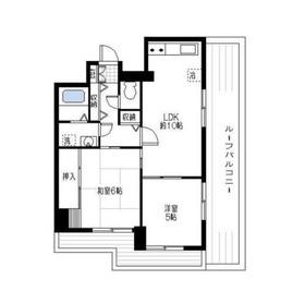 ビレッジハイム3鶴見5階Fの間取り画像