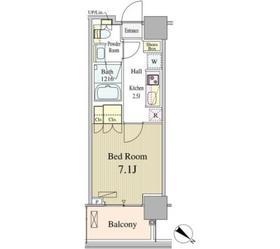 ルミレイス豊洲12階Fの間取り画像