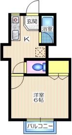 コーポ 協進2階Fの間取り画像