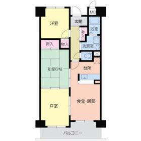 メゾンクリサンテーム4階Fの間取り画像
