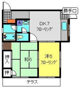 パークサイドN1階Fの間取り画像