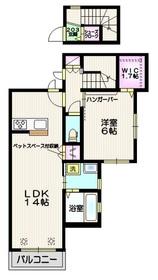 (仮称)吉野町1丁目メゾン ペット共生2階Fの間取り画像