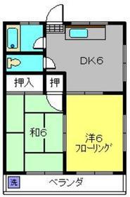 前山マンション3階Fの間取り画像