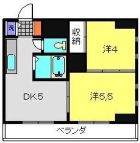 メゾン酒井3階Fの間取り画像