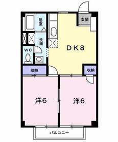 ファミールハイム2階Fの間取り画像