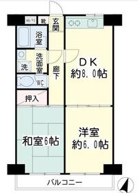 グリーンハイツ平安1階Fの間取り画像