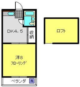 ヴィラ浅間台2階Fの間取り画像