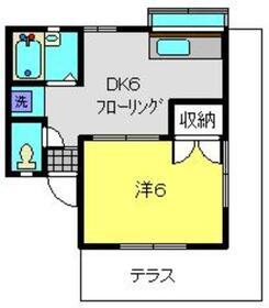 シティハイム1階Fの間取り画像