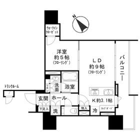 ブランズ愛宕虎ノ門6階Fの間取り画像