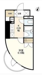 VISAGE5階Fの間取り画像