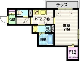 ココトピア S&A1階Fの間取り画像