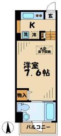 黒川駅 徒歩2分2階Fの間取り画像