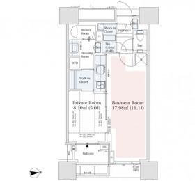 DEUX TOURS CANAL&SPA 【ドゥ・トゥールSOHO】44階Fの間取り画像