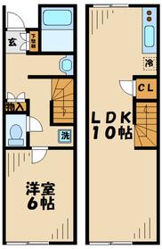本厚木駅 バス6分「中萩原」徒歩29分2階Fの間取り画像