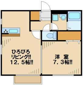 リヴィエール2階Fの間取り画像