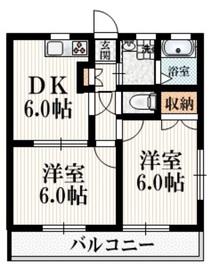 SUNS昭島1階Fの間取り画像