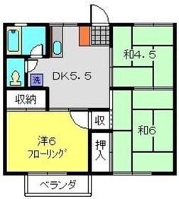 グリーンハイツA2階Fの間取り画像