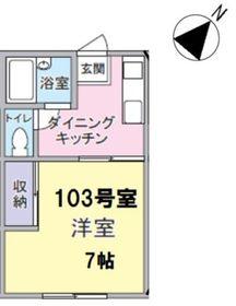 上板橋駅 徒歩22分1階Fの間取り画像