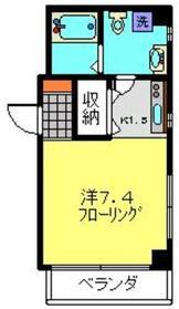 武蔵中原駅 徒歩12分3階Fの間取り画像