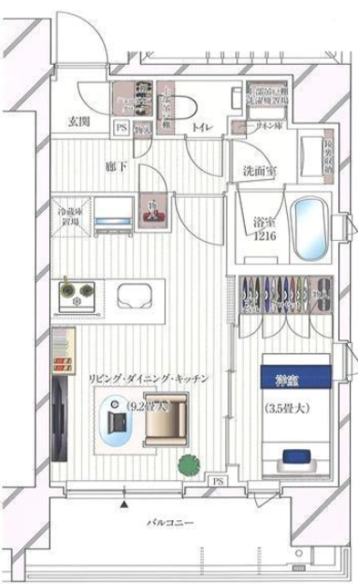 ルジェンテ千代田神保町間取図