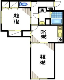 28番館1階Fの間取り画像