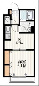 クイーンズヒル2階Fの間取り画像