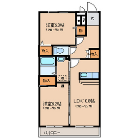 ルミエールシェル3階Fの間取り画像