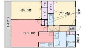 プレステージⅢ1階Fの間取り画像