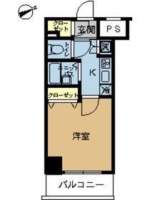 スカイコートヴィーダ五反田WEST12階Fの間取り画像