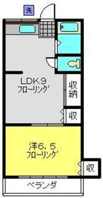 日吉駅 徒歩24分2階Fの間取り画像