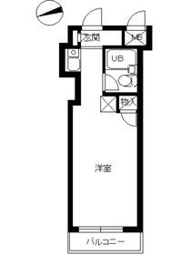 スカイコート綱島5階Fの間取り画像