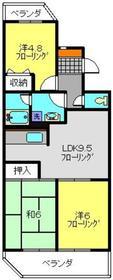 二俣川駅 徒歩8分1階Fの間取り画像