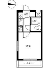 スカイコート新宿第32階Fの間取り画像