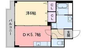 ボンメゾン23階Fの間取り画像