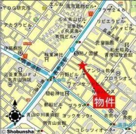 表参道駅 徒歩3分案内図