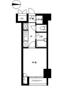 スカイコート日本橋第53階Fの間取り画像