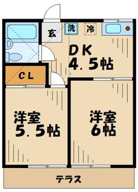 本厚木駅 徒歩7分1階Fの間取り画像