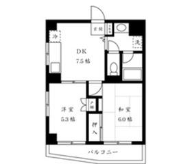 CITY SPIRE横浜和田町4階Fの間取り画像