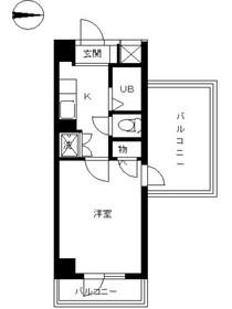 スカイコート文京白山第37階Fの間取り画像
