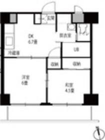 チェスターハウス鶴見3階Fの間取り画像